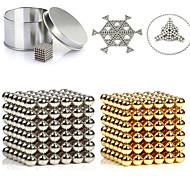 Недорогие -216pcs 3mm золотые и серебряные diy магнитные шарики шар шарики волшебный магнит головоломка блок исполнительной власти 2 цвета