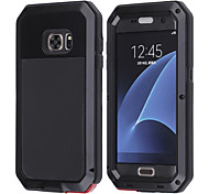 LOGROTATE®Aluminum Water Resistant Shockproof Gorilla Glass Case for Samsung Galaxy S7 S6 S5 Edge Plus