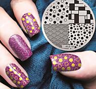 2016 г. Последние шаблон тиснения изображения пластины версия мода картины искусства ногтя
