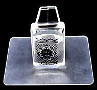 1set квадратный прозрачный штамп ногтей набор инструментов для ногтей