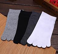 Недорогие -Муж. Носки для пешеходного туризма Носки с пальцами Носки Впитывает пот и влагу Анти-скольжение для Йога