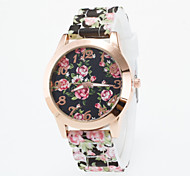 cheap -Women's Quartz Wrist Watch Casual Watch Silicone Band Flower Casual Fashion Multi-Colored