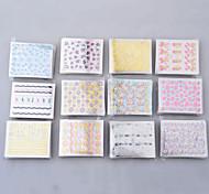 50 листов 3d красочные наклейки деколь для ногтей искусство маникюра советы поделки украшения