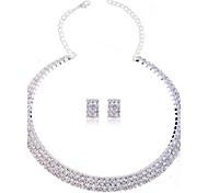 Недорогие -Жен. Набор украшений Ожерелье / серьги Синтетические драгоценные камни Стразы Искусственный бриллиант Мода Свадьба Для вечеринок Особые