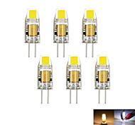 abordables -2W G4 Luces LED de Doble Pin MR11 1 leds COB Decorativa Regulable Blanco Cálido Blanco Fresco 100-150lm 3000-6000K DC 12 AC 12V
