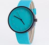 Men's Women's Couple's Fashion Watch Quartz Casual Watch Fabric Band Black Blue Red