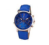 cheap -Women's Round Dial Case Leather Strap Watch Watch Brand Fashion Quartz Watch Sport Watch Cool Watches Unique Watches