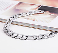 cheap -Men's ID Bracelet Unique Design Fashion Stainless Steel Others Jewelry Christmas Gifts Party Costume Jewelry Silver