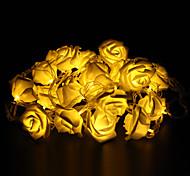 Недорогие -5 м 20-светодиодный наружный праздник украшения розы формы теплый белый свет привело строки свет (220)