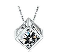 Недорогие -Жен. форма Камни по месяцу рождения Ожерелья с подвесками Стерлинговое серебро Серебристый Ожерелья с подвесками Повседневные