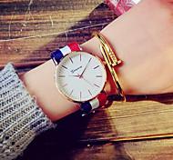 cheap -Women's Quartz Dress Watch Fashion Watch Casual Watch Fabric Band Vintage White Blue Red Pink