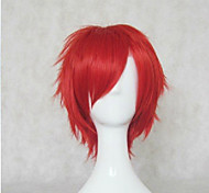 New Arrival Red Synthetic Hair Wig Short Curly  Natural Animated Wig Cosplay Wigs Party Wig