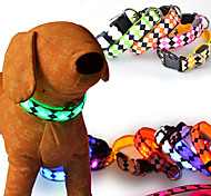 luminescent rhombus Pet collar flash light emitting Pet collar  LED luminous dog collar