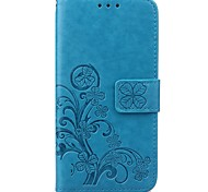 cheap -Clover Leather Pattern High Quality PU Leather Wallet Case with Hand Line for Samsung S7~S3 S8 PLUS S8