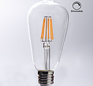 preiswerte -KWB 1pc 7W 720 lm E26/E27 LED Glühlampen ST64 8 Leds COB Abblendbar Wasserfest Dekorativ Warmes Weiß Wechselstrom 110-130V