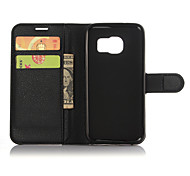 cheap -Genuine Leather Wallet Case for Samsung Galaxy S7 Plus S7 Edge/S7/S6 Edge +/S6 Edge/S6/S5/S4/S3  S8 PLUS S8