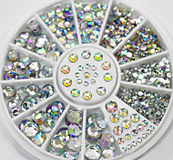 cheap -4 Size 300pcs Nail Art Tips Crystal Glitter Rhinestone Decoration Wheel
