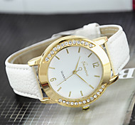 Women's Fashion Watch Casual Watch Quartz Imitation Diamond Leather Band Black White Blue Red Brown Green Pink Purple Beige Rose