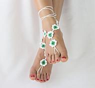 Женский Ножной браслет/Браслеты Ткань Уникальный дизайн Мода Регулируется обожаемый Простой стиль Бижутерия Желтый Красный Зеленый Женский