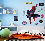 Spider-Man Wall Stickers Environmental DIY Superhero Kids Bedroom Plane Wall Decals Wall Art