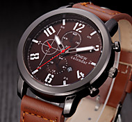 Mens Watches Top Brand luxury Mens Quartz Watches Leather Band Date Gifts Army Wrist Watch Men Sports Watches