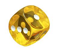 Недорогие -маточное ул. ударил 18 мм цвет круглый смолы прозрачные кости игры материал охраны окружающей среды 20 зерен / пакет