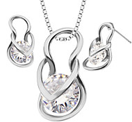 Shoes Luxury Crystal Pendants Necklaces Earrings jewelry Set For Women 18K Gold Plated Fashion Jewelry box gift S20117
