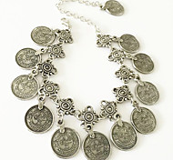Women's Anklet/Bracelet Alloy Unique Design Fashion Vintage Bohemian Carved Flower Jewelry Silver Women's Jewelry Party Daily Casual 1pc