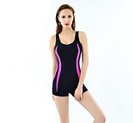 cheap -Women's Athletic Swimwear Quick Dry Compression Polyester Corduroy One-piece Swimwear Swimming
