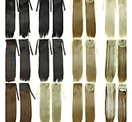 Недорогие -На клипсе Конские хвостики Искусственные волосы Волосы Наращивание волос Кудрявый