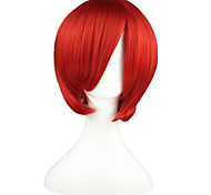 cheap -Cosplay Wigs Vocaloid Akaito Red Short Anime Cosplay Wigs 35 CM Heat Resistant Fiber Male / Female