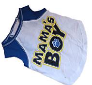 economico -Cane T-shirt Abbigliamento per cani Lettere & Numeri Bianco / blu Cotone Costume Per animali domestici