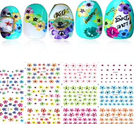 1pcs Include 11 Styles Nail Art  Stickers Simulate Design Colorful Flowers Image  E281-291