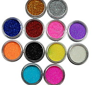 cheap -12Pcs Colors Glitter Powder Nail Art Decoration