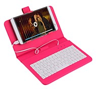 7 Inch Universal Leather Case Cover with Micro USB Keyboard For Tablet