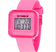 SYNOKE Kids' Sport Watch Wrist watch Digital Watch Digital LCD Calendar Chronograph Water Resistant / Water Proof Alarm Luminous Rubber