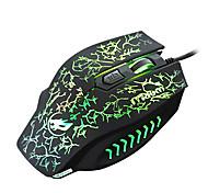 Недорогие -война волк 4d проводной игровой мыши дыхание 2400dpi подсветкой свет для LOL / ср / DOTA
