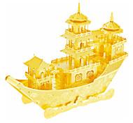 Недорогие -3D пазлы Пазлы Металлические пазлы Наборы для моделирования Корабль 3D Китайский древний корабль Своими руками Нержавеющая сталь