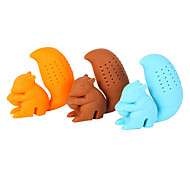 cheap -Silicone Creative Kitchen Gadget / Tea Squirrel 1pc Filter / Tea Strainer / Daily