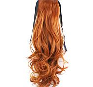красный длина 50см завод прямые продажи связать тип локон хвощ волос хвостик (цвет 119)