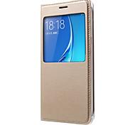 PU Leather View Flip Case For Samsung Galaxy J1 Ace/J1/J2/J3/J5/J7/J1(2016)/J3(2016)/J5(2016)/J7(2016)