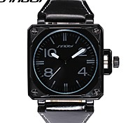 cheap -SINOBI Men's Quartz Wrist Watch Military Watch Sport Watch Water Resistant / Water Proof Shock Resistant Leather Band Luxury Cool Black