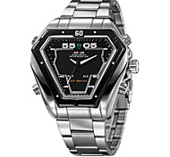 cheap -WEIDE® Men's Watch Dress Watch Triangle LED Multi-Function Dual Time Zones Water Resistant Wrist Watch Cool Watch Unique Watch