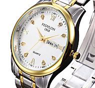 Women's Dress Watch Fashion Watch Quartz Calendar Stainless Steel Band Luxury Cool Silver