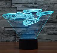 3 D  LED Vision Lamp Gift Atmosphere Desk Lamp  Change Color Night Light