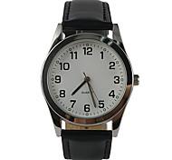 cheap -Men's Quartz Wrist Watch Casual Watch PU Band Charm Casual Fashion Black