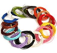 Недорогие -beadia 5 мтс 1мм круглый кожаный шнур&провод&Строка (16 цветов)