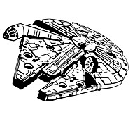 Millennium Falcon Spaceship Warship Wall Stickers Big Size Family Living Room Wall Decals