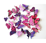 3D Наклейки Простые наклейки Декоративные наклейки на стены,Plastic материал Съемная / Положение регулируется Украшение домаНаклейка на