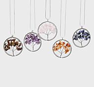 Женский Ожерелья с подвесками павлин Снежинка Синтетические драгоценные камни Нержавеющая сталь Агат Мода Бижутерия Назначение
